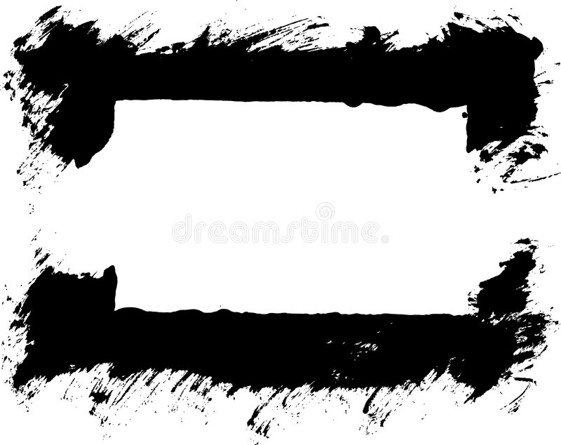 Grunge thick stroke border vec vector illustration