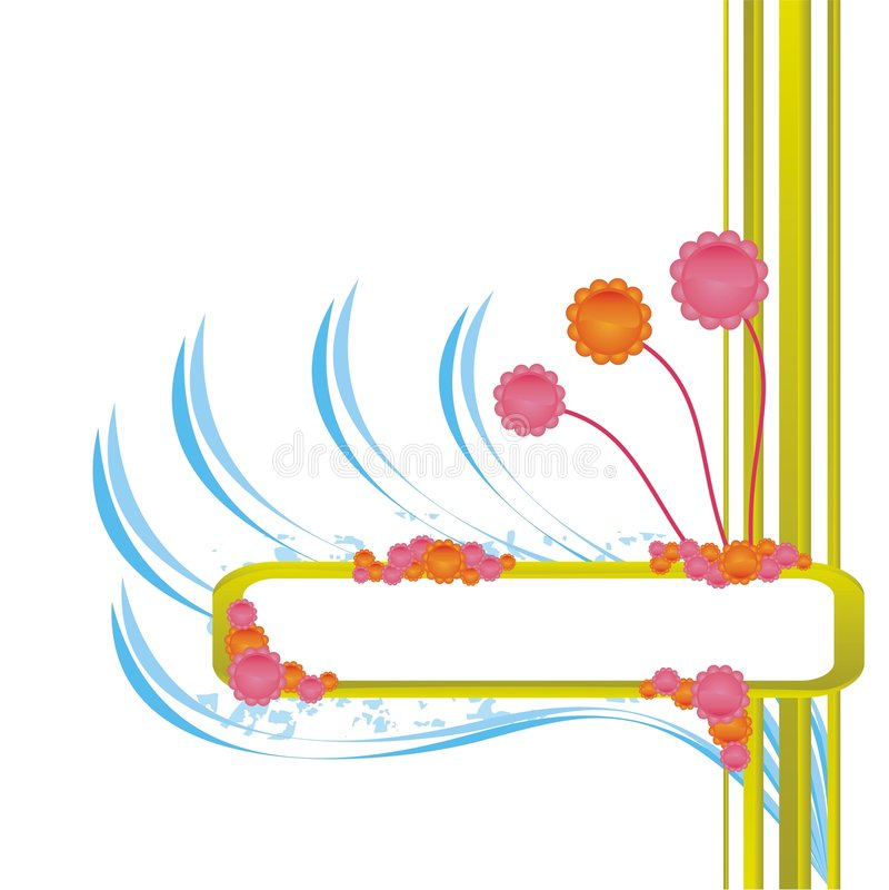 Grunge three-color de vue illustration stock