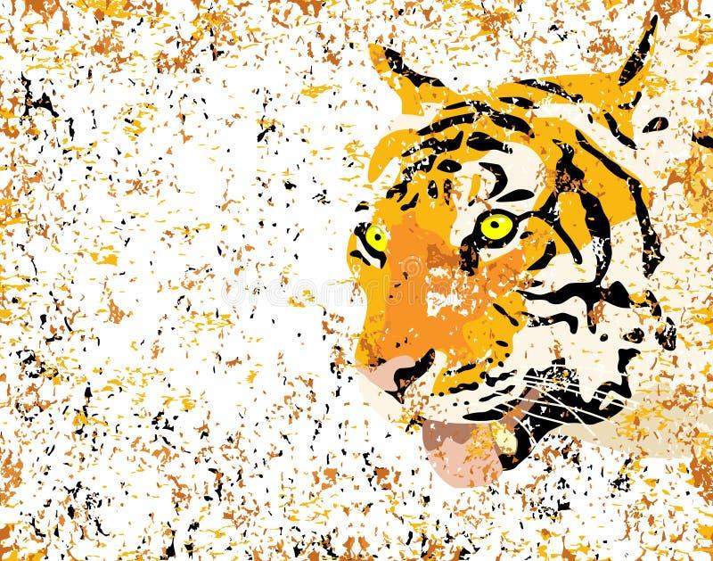 Grunge Tiger lizenzfreie abbildung