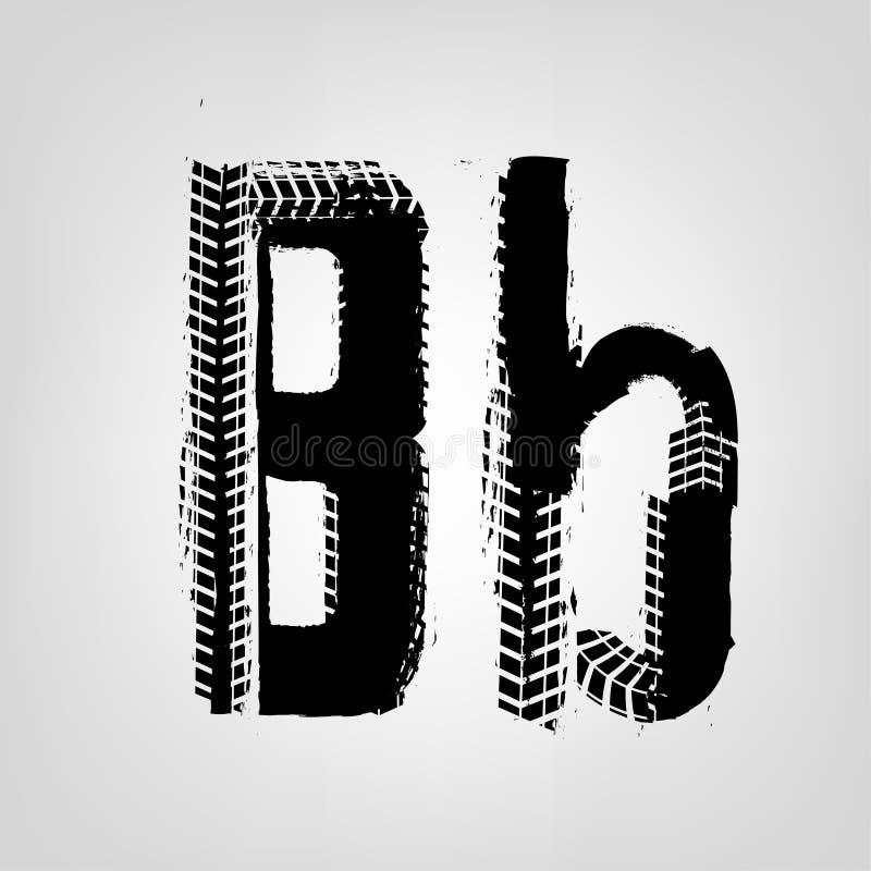 Grunge Tire Letter royalty free illustration