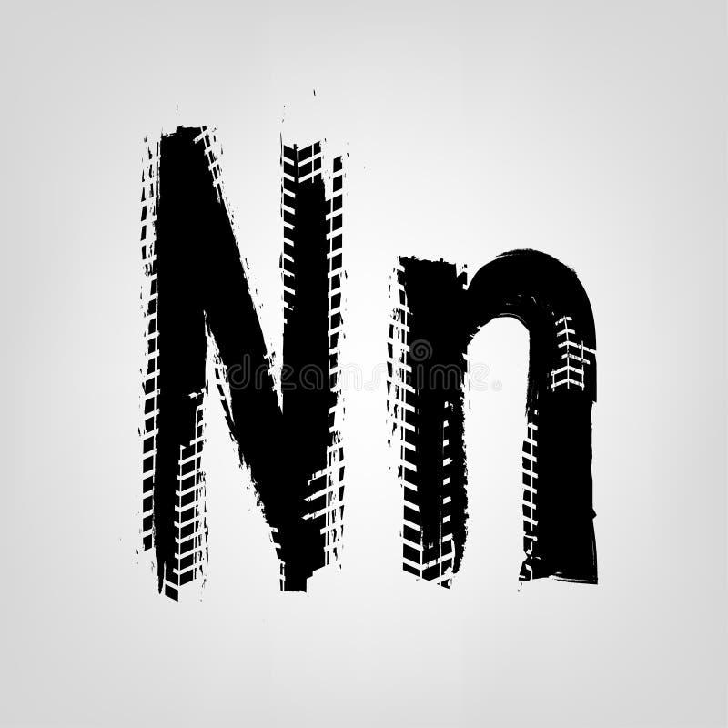 Grunge Tire Letter stock illustration