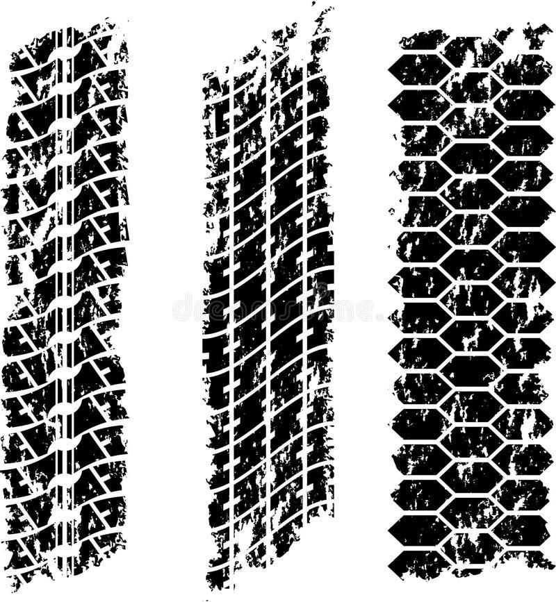 Download Grunge tire tracks stock vector. Illustration of speed - 22426827