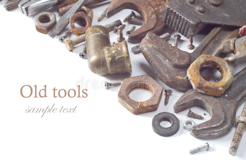 Grunge tools royalty free stock image
