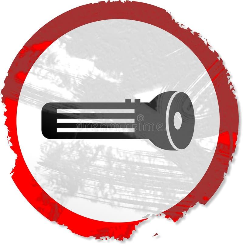Grunge torch sign stock illustration