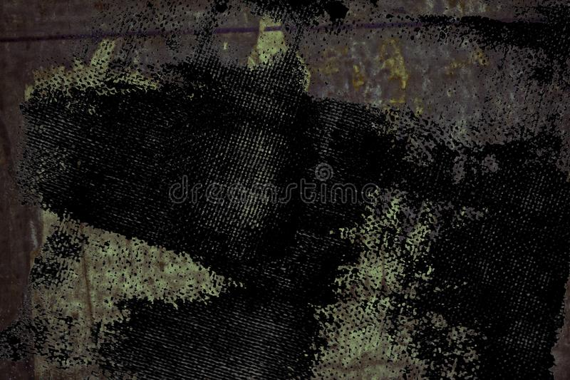 Grunge Torn poster after vote on tin textured wall. Ripped newspaper stock images