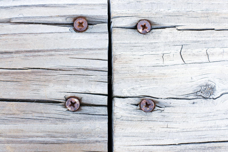 Grunge treated wood joint background royalty free stock image