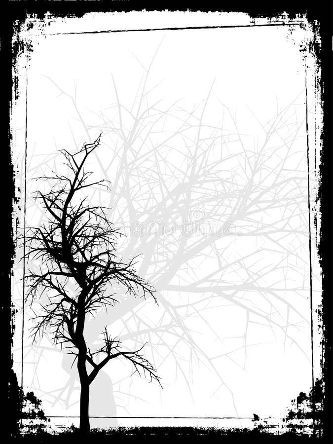 Download Grunge tree stock vector. Illustration of nature, branch - 2129339