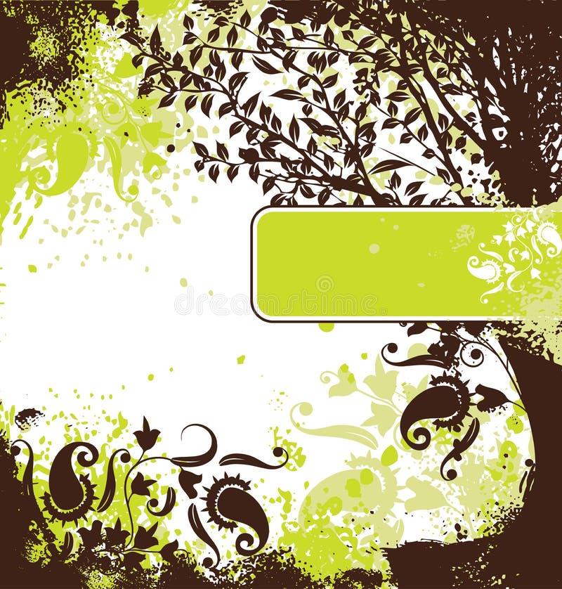 Grunge tree background, vector vector illustration