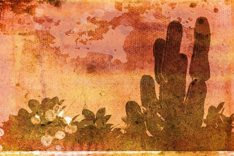 Grunge tropicale illustration de vecteur