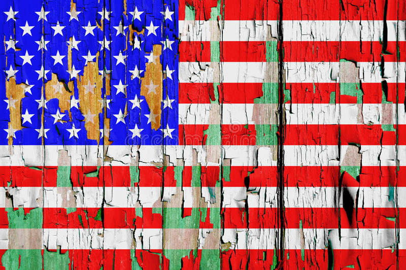 Download Grunge U S A Flag stock photo. Image of cracked, background - 22970748