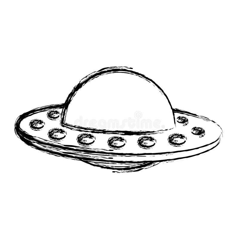 Grunge ufo tajemnicy przedmiota technologii projekt ilustracji