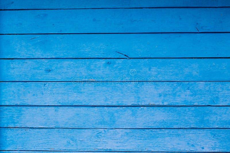 Grunge of uitstekende blauwe houten lijst of muurtextuur royalty-vrije stock fotografie