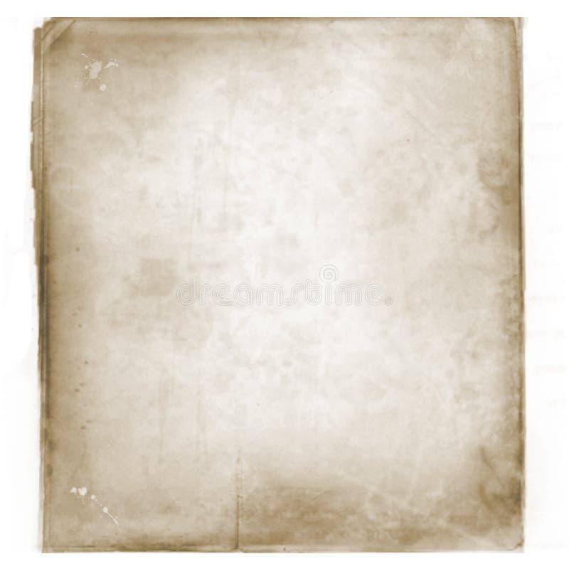 Grunge, uitstekende, oude document achtergrond illustratie van oude, versleten en bevlekte papierafvaltextuur Voor uw ontwerp vector illustratie