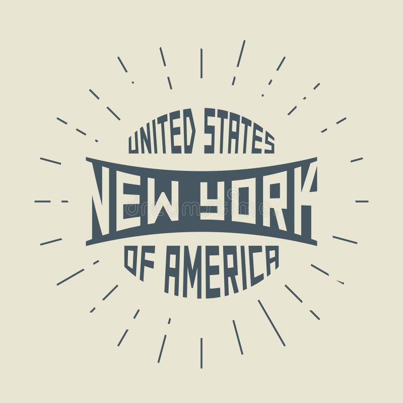 Grunge uitstekende ronde zegel met de Stad van tekstnew york, New York vector illustratie