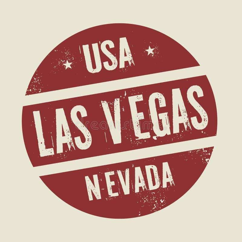 Grunge uitstekende ronde zegel met tekst Las Vegas, Nevada vector illustratie