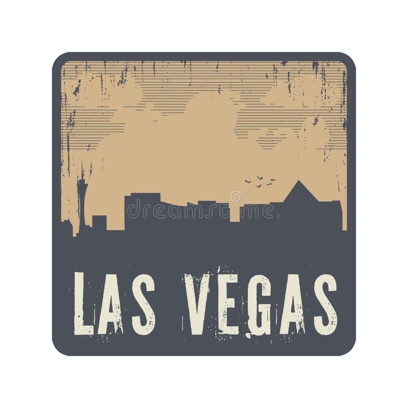 Grunge uitstekende zegel met tekst Las Vegas vector illustratie