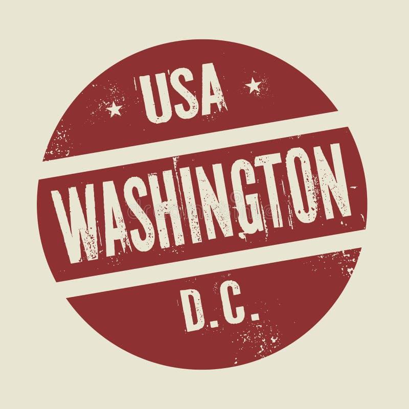 Grunge uitstekende zegel met tekst Washington, District van Colombia royalty-vrije illustratie