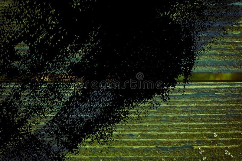 Grunge ultra oranje Textuur van oude, sjofele, groene verf op een oude houten bank met schaduw stock afbeelding