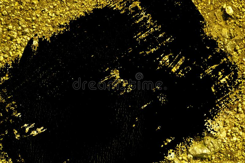 Grunge Ultra yellow Ground like on Mars, land texture, sand surface, stone background.  stock illustration