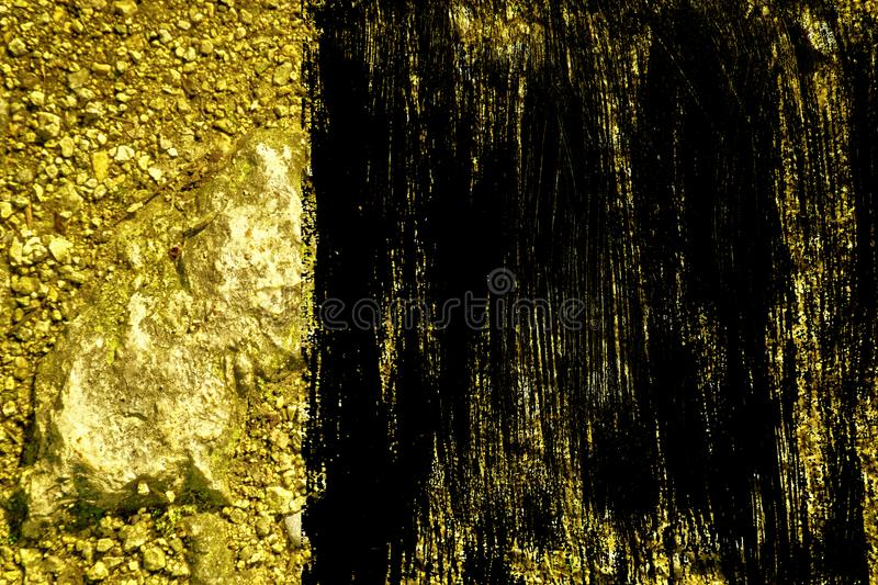 Grunge Ultra yellow Ground like on Mars, land texture, sand surface, stone background.  royalty free illustration