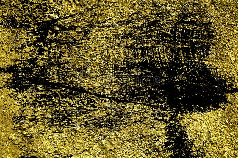Grunge Ultra yellow Ground texture, sand surface, stone background, good for design elements.  royalty free illustration