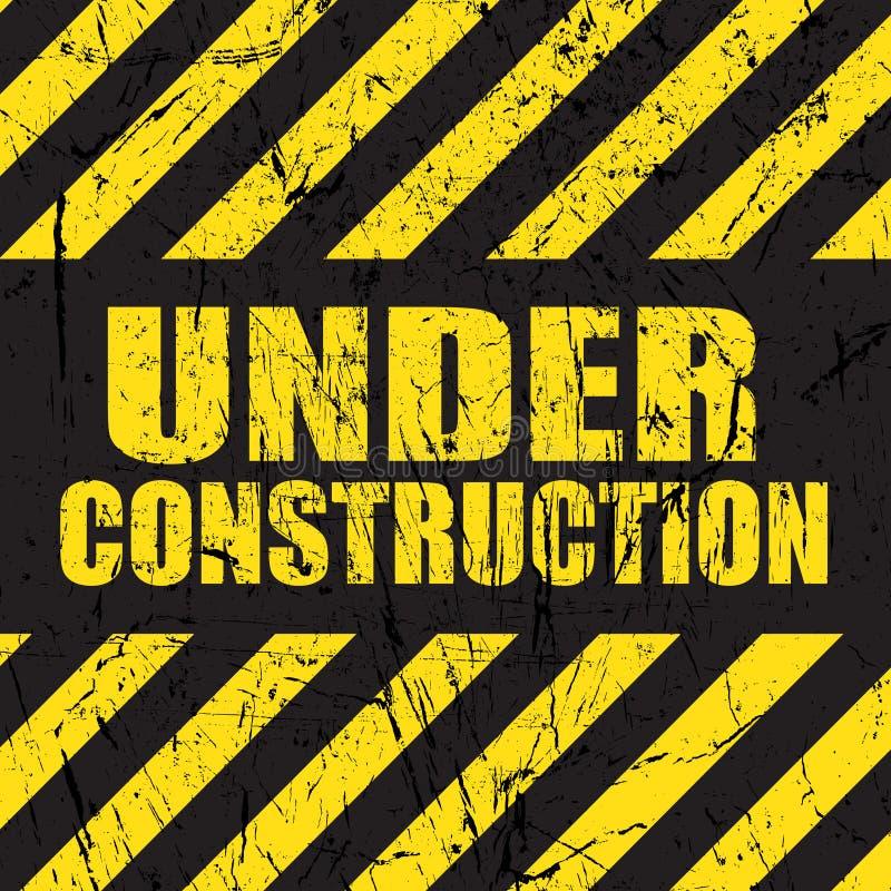Grunge under construction background stock illustration