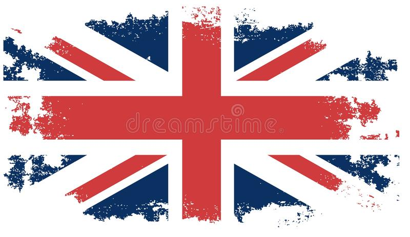 Grunge United Kingdom flag stock illustration