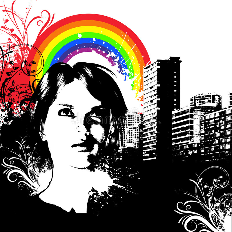 Grunge urbaine illustration stock