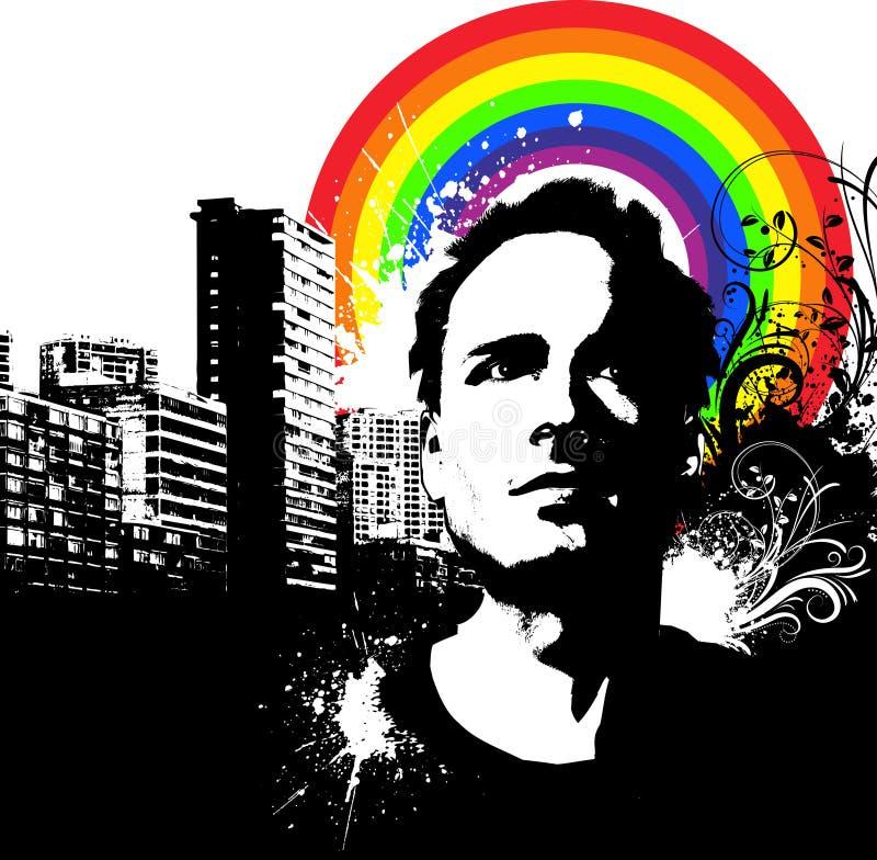 Grunge urbaine illustration libre de droits