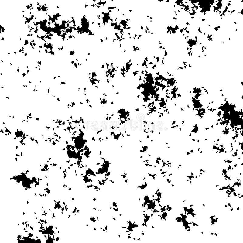 Grunge Urban Background. Black Distressed Grain Dust Texture Overlay stock illustration