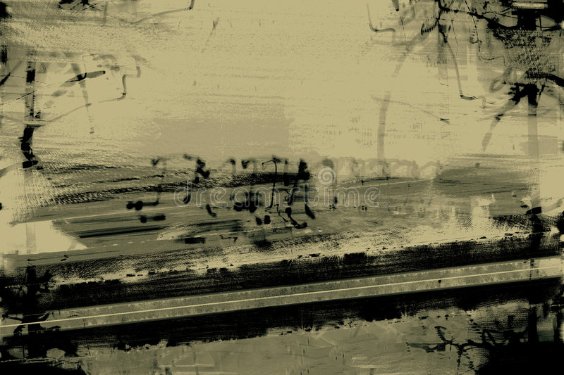 Grunge Urban Scene. Background abstract urban graffiti scene in sepia brown toned black and white royalty free illustration