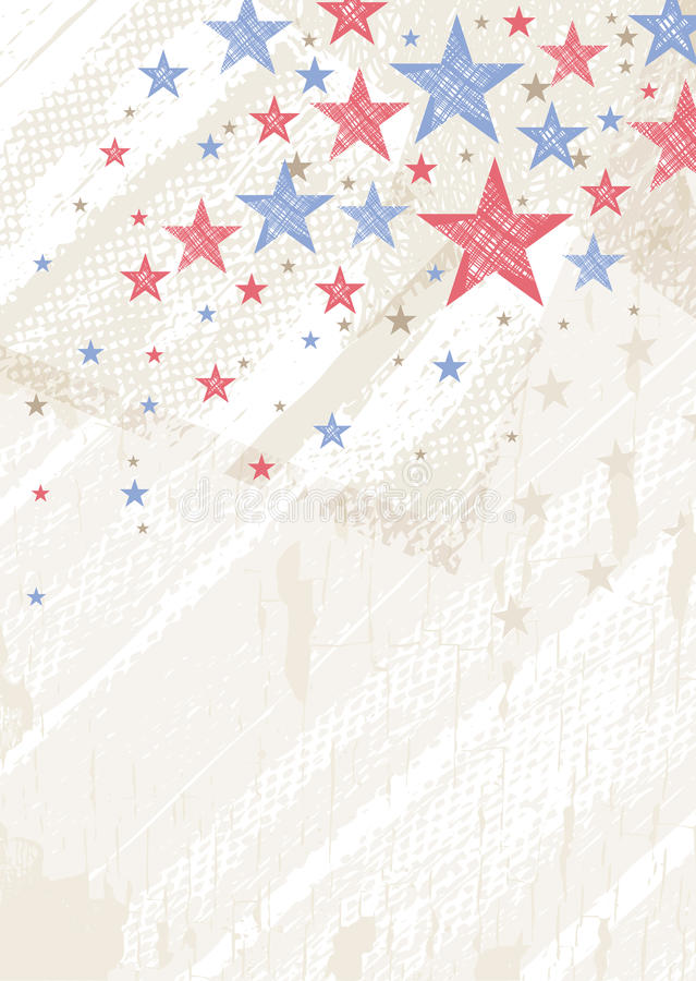 Grunge usa background with stars, vector stock photography