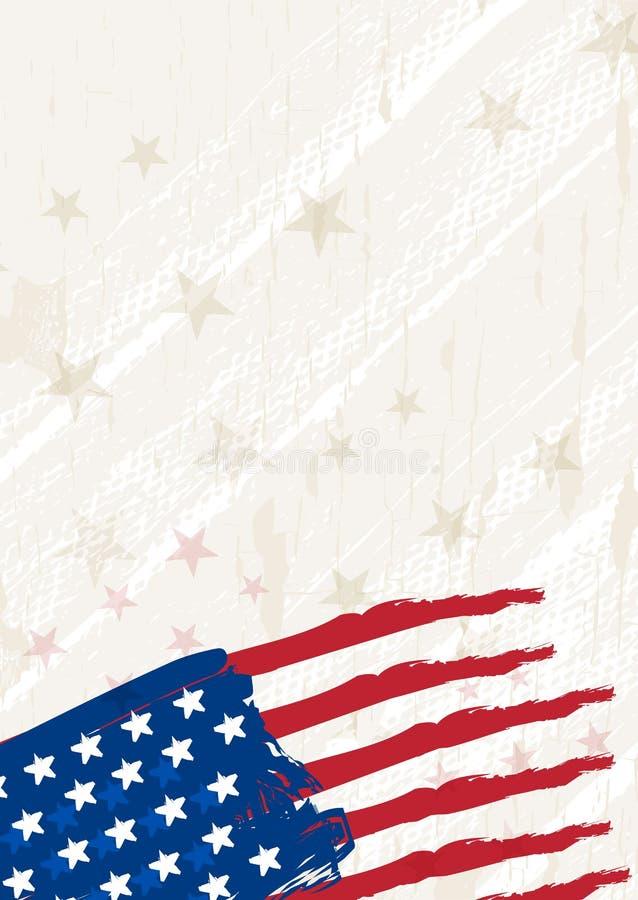 Grunge usa background, vector stock image
