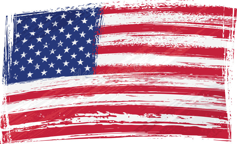Grunge USA flag. USA national flag created in grunge style
