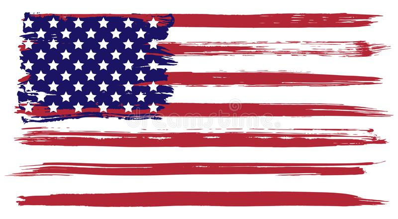Grunge USA flag vector illustration