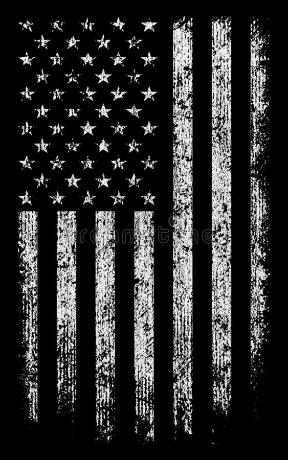 Grunge usa flag black/white wallpaper/background stock vector royalty free stock image