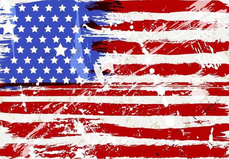 Grunge USA flag, distressed. Stars and stripes, vector illustration, vector art vector illustration