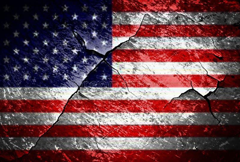 Grunge USA Flag stock photography