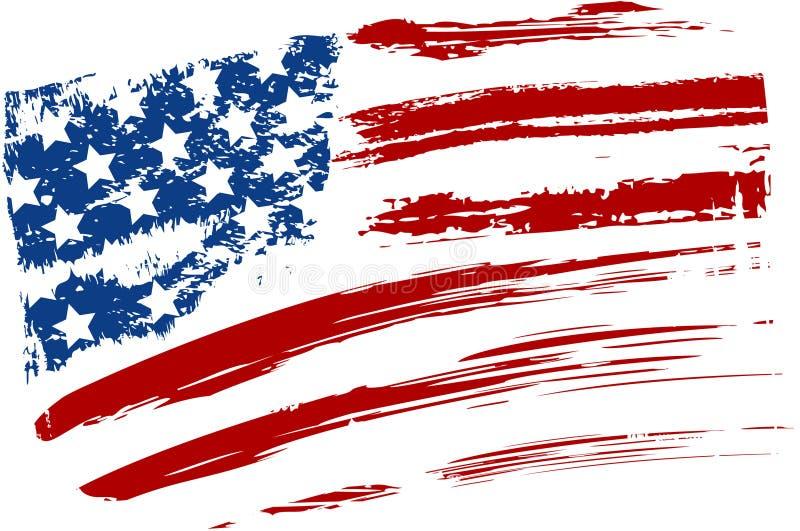 Grunge usa flaga royalty ilustracja