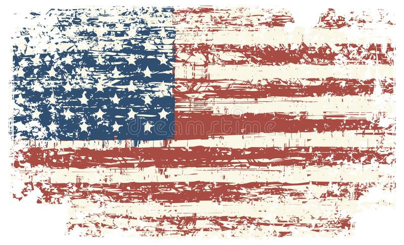 Grunge usa flaga amerykańska flaga roczne wektor ilustracji