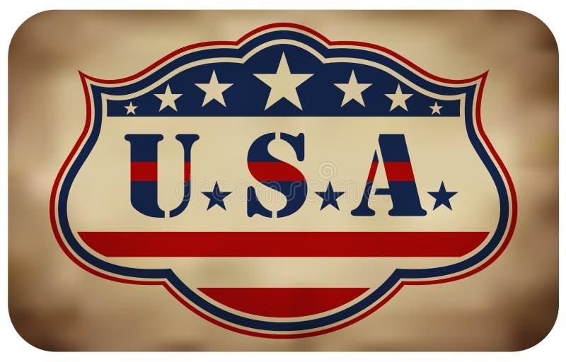 Grunge USA Znak ilustracji
