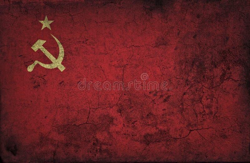 Grunge USSR flaga obraz royalty free