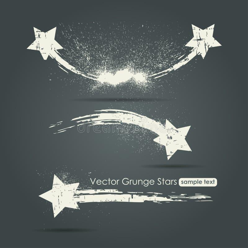 Grunge ustawiający mknące gwiazdy zdjęcia royalty free
