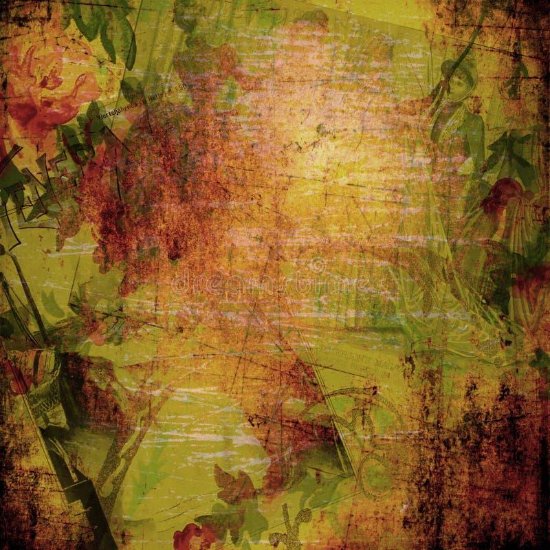 Grunge - värme abstrakt bakgrund vektor illustrationer