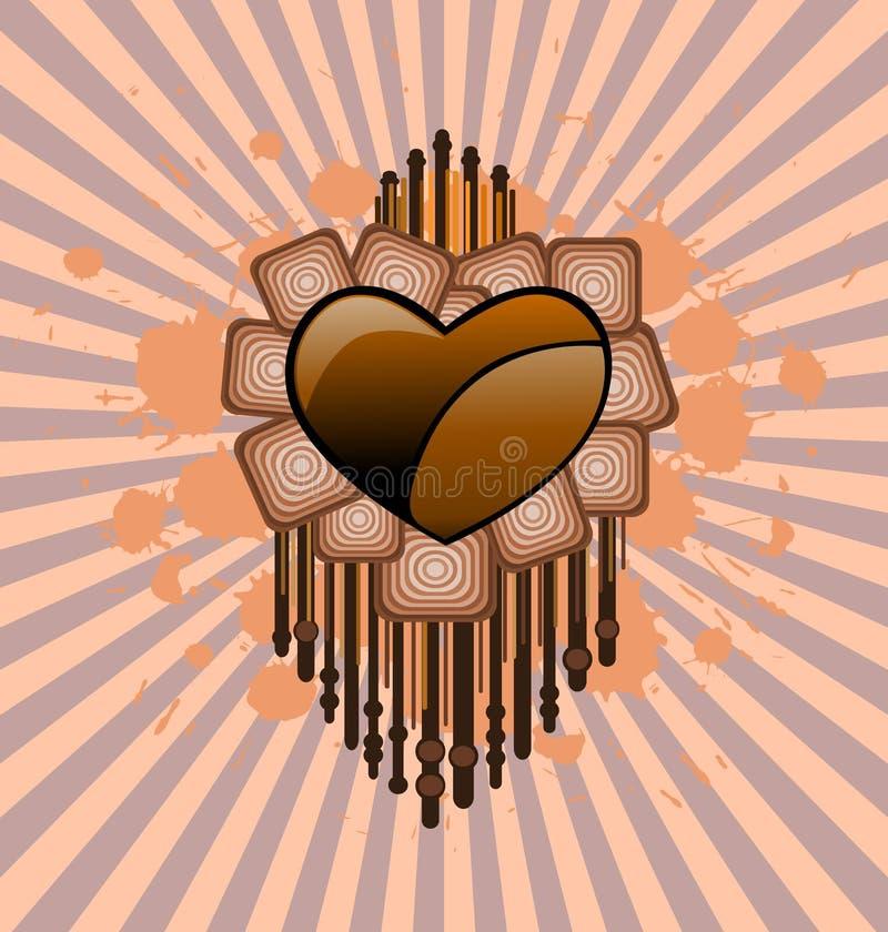 Grunge Valentine vector illustration