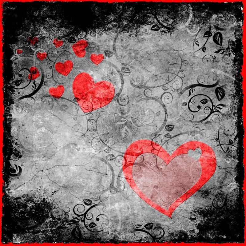 grunge valentine royalty ilustracja