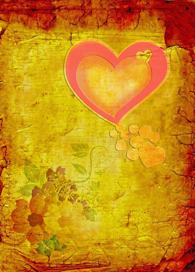 grunge valentine ilustracji