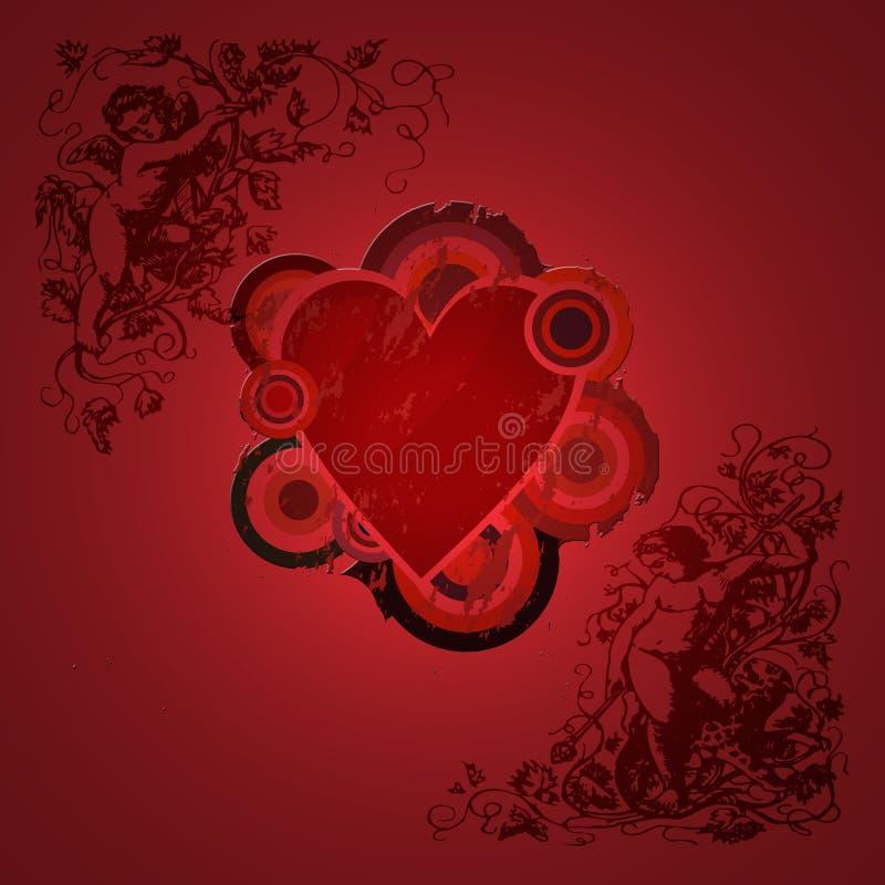 grunge valentine ilustracja wektor