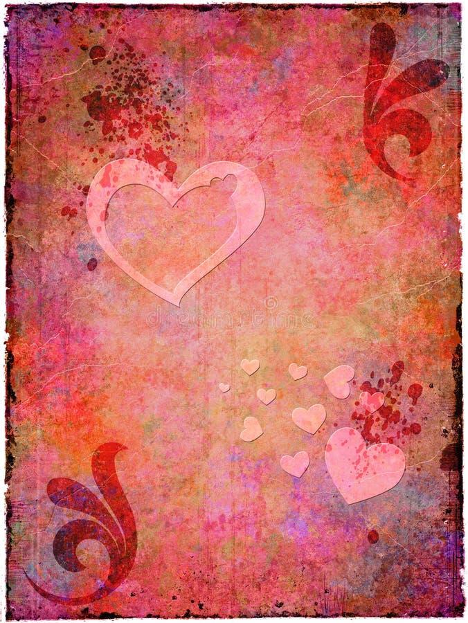 Grunge Valentinsgruß stock abbildung