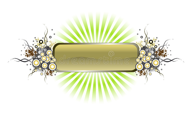 Download Grunge Vector Banner With Rays. Stock Photo - Image: 3827750